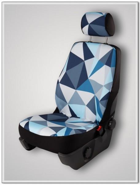 Paar Sitzbezüge (geteilt), Ice - mit Airbag-Reißnaht, inkl. Kopfstützenbezügen