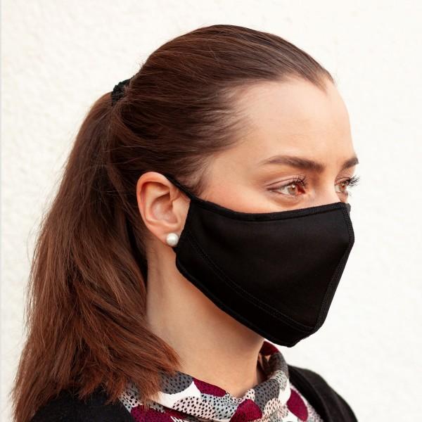 10x Gesichtsmaske schwarz - in verschiedenen Größen