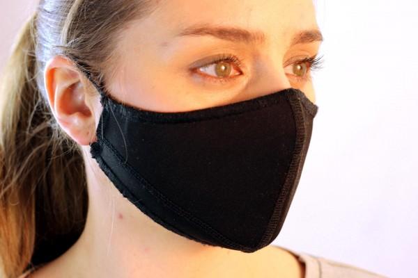 3x Gesichtsmaske schwarz - in verschiedenen Größen